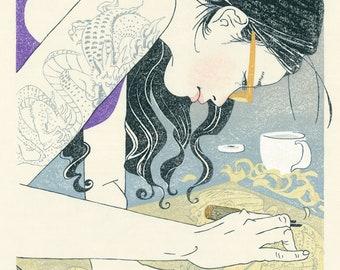 "YUKI: japanes woodblock print ""Yuko"""