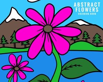 Abstract Flowers Coloring Book