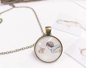 Rabbit pendant, animal pendant, bunny pendant, bunny necklace, animal necklace, brass pendant, rabbit necklace, rabbit charm