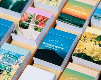Landscape Sticker Book - Sunset Romantic Series - 8 Colour Choice - 50 Stickers - Junk Journal Supplies - Scrapbooking - Aesthetic Stickers