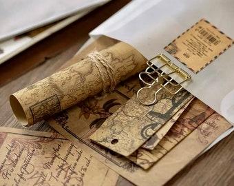 Vintage Scrapbook Paper - Coloured Vintage Paper - Paper Ephemera - Scrapbook Supplies - Junk Journal Supplies - Craft Supplies