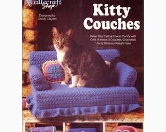 Digital E-book: Learn to Crochet 3 piece Cat/Kitten Couches Tutorial