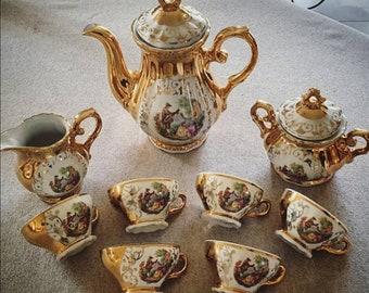Victorian baroque rococo romantic tea service