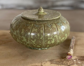 Ceramic Tin Green Decoration Unicat Round Kitchen Living