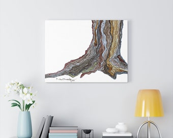 Foundation - Watercolour & Ink Canvas Gallery Wraps