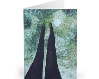 Towering Oak - Watercolour & Ink // Greeting Cards (5 Pack)