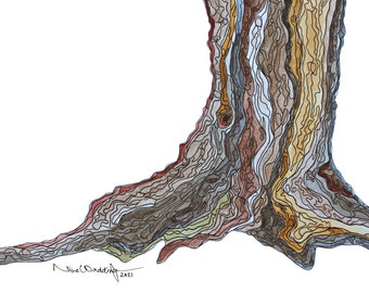 Foundation - Watercolour and Ink ORIGINAL