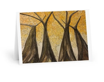 Golden Maple  Watercolour & Ink - Greeting Cards