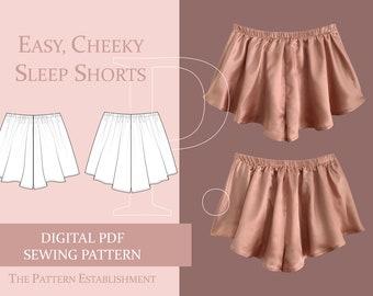 Easy, Cheeky Women's Sleep Shorts Sewing Pattern, Ladies Downloadable Printable PDF Sewing Pattern Size XS-XXL
