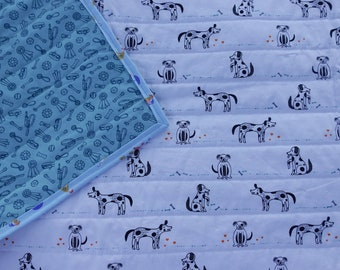 Dogs Are Friends Dog Quilt