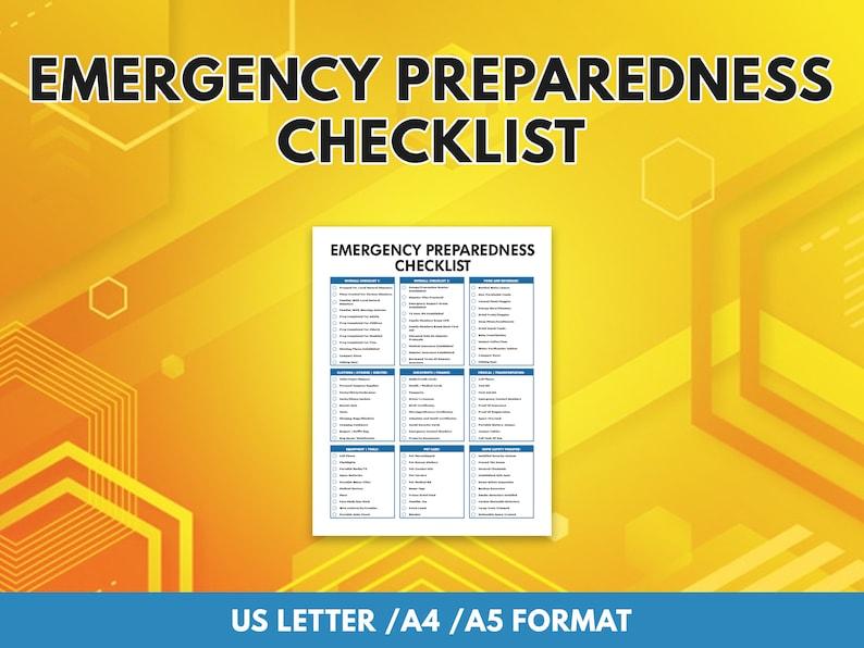 Emergency Preparedness Checklist image 1