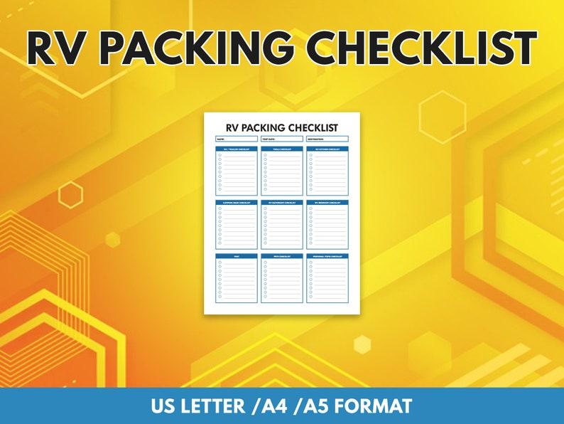 RV Packing Checklist image 0