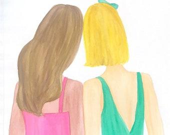 Best Friends Watercolor