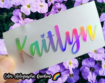 Custom Vinyl Decal - Make Your Own Personalized Name Sticker - Macbook/Car/Window/Tumbler/Glassware- Custom Sticker- Any Text, Image or Logo