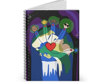Humanity & Oneness Spiral Notebook - Ruled Line