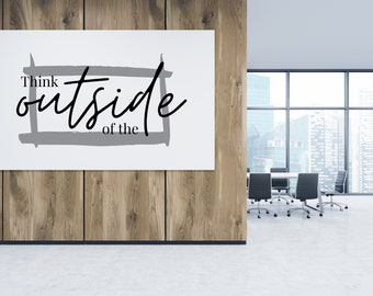 Think Outside The Box SVG Cut Files