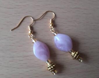 Bespoke gem earrings colour: gold