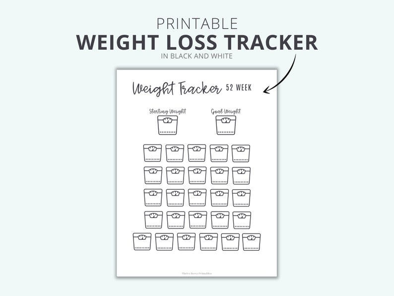 Printable Weight Loss Tracker To Help You Lose Weight  Stay image 0