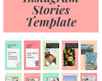 Canva Instagram Stories Templates, Boho Design Editable Template To Help You Create Your Instagram Stories Quickly + Easily In Canva