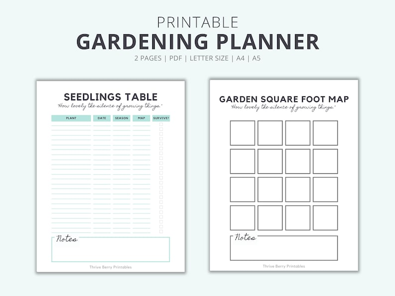 Printable Gardening Planner To Help You Organize Your image 0