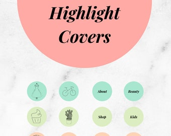 20 Canva Instagram Highlights Covers Template, Boho Design Editable Template To Help You Create Your Insta Covers Quickly + Easily