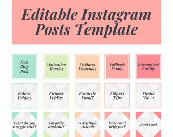 Canva Instagram Post Templates, Boho Design Editable Template To Help You Create Your Instagram Posts Quickly + Easily In Canva