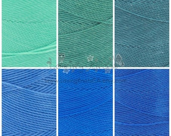OCEAN SHADES Bundle 6x10 mts 0.8mm Waxed Thread Macrame Jewelry Leather Stitching Friendship Bracelet Beading Cord Polyester String Settanyl