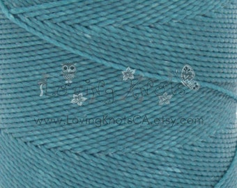 TEAL 0.8mm Waxed Thread Macrame Jewelry * Leather Stitching * Friendship Bracelet * Beading Cord * Polyester String * Settanyl