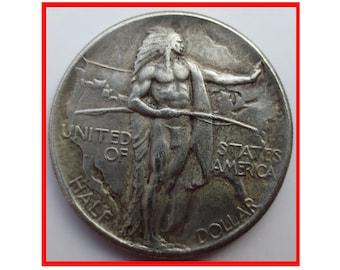 Rare  USA United States 1926 Silver Color Oregon Trail Half Dollar Coin. Explore now! Inactive