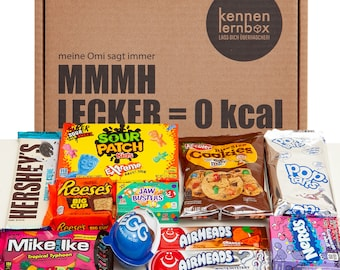 Candy box | USA Box | Introductory box with 12 popular sweets from America | Gift idea for special occasions