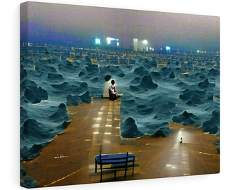 The Sea of Loneliness | Wall Art | Digital Art | Contempory |  Living Room Decor | Rectangle Size