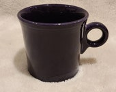 Homer Laughlin HLC FiestaWare Plum Deep Dark Purple Tom Jerry 3-1 2 quot Coffee Mug