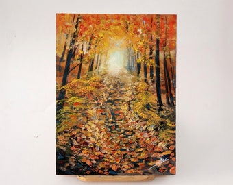 Autumn, acrilyc and oil painting