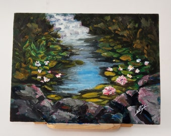Riachuelo, acrilyc and oil painting
