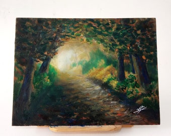 Out of the forest, acrilyc and oil painting