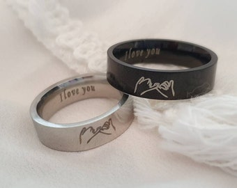 Pinky swear matching rings, promise rings set, couples ring, best friend rings, friendship rings, long distance relationship rings, lovers