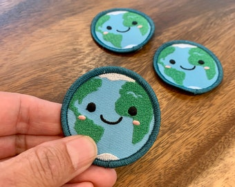 I love the world iron-on patch