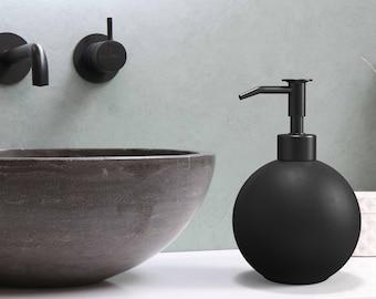Black Soap Dispenser – Countertop Soap Dispenser for Kitchen and Bathroom – Stainless Steel Liquid Soap Dispenser - Modern Design - 20oz