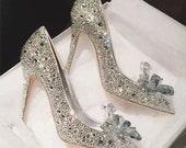 Cinderella Inspired Glass Slippers Pumps Heels