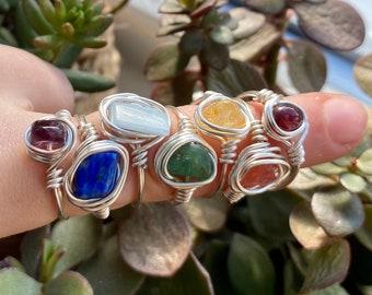 Handmade  Crystal Gemstone Rings