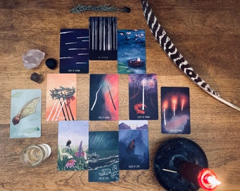 Luminous Esoteric Reading 45 mins - 11 cards and mantra charm