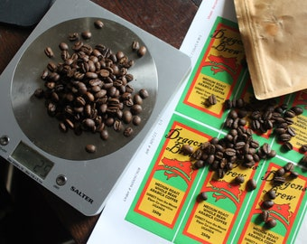 Sample 25g of fresh Dragons Brew coffee beans, direct from Mt Elgon, Uganda