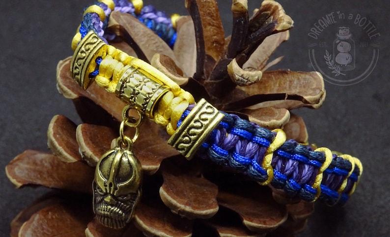Handmade Friendship Bracelets Marvel Inspired Thanos Infinity image 1