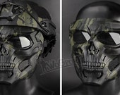Halloween Party Game Skull Mask, Airsoft Paintball Skull Mask, Helmet Mask With Eye Protection, Tactical Equipment, Paintball Shooting Games