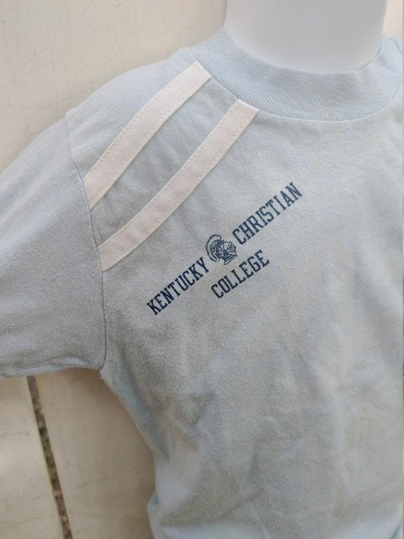 1970s vintage kentucky christian college tee