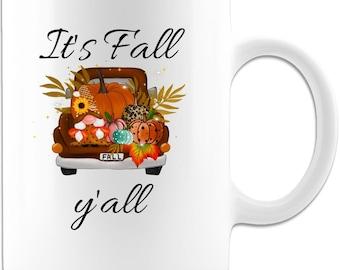 It's Fall y'all Ceramic Coffee Mug