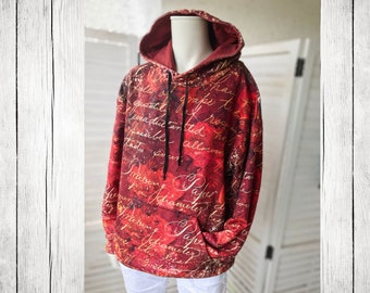 Hoodie | Vintage Letter Roses (all over Print)