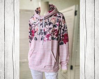 Hoodie | La Vie en Rose pink