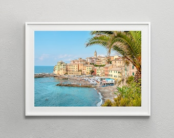 Liguria Italy Photography Bogliasco | Coastal Landscape Digital Download | Photo Poster Digital Print | Italy Wall Art