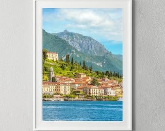 Bellagio Lake Como Italy Wall Art, Lombardy Como Digital Download, Photo Poster, Instant Art